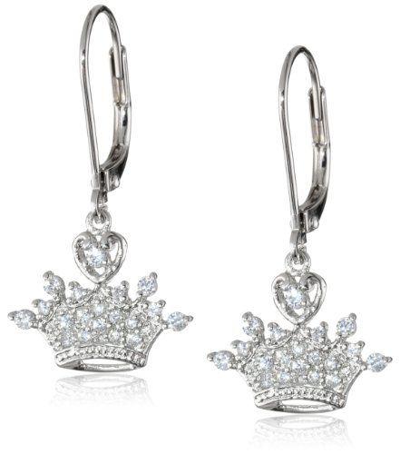 Disney Princess Crystal Crown Leverback Earrings