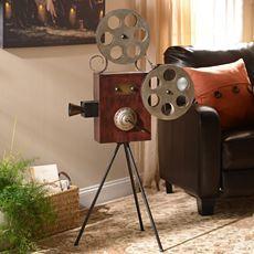 Theater Room Accessories - Theater Room Decor   Kirkland's  Movie Camera Statue $44.99