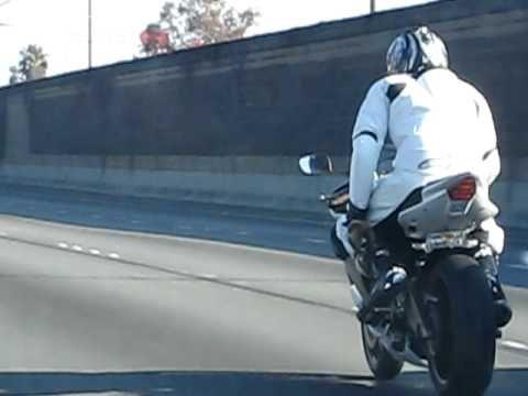 Funny motorcycle guy we saw!