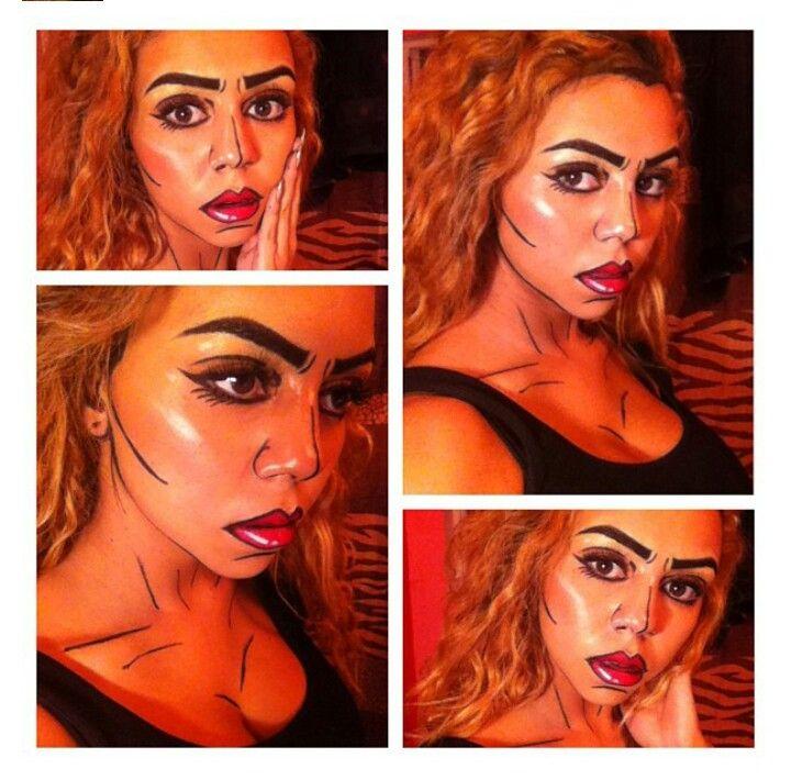 148 best Comic book makeup images on Pinterest   Comic book makeup ...