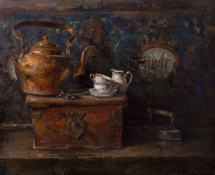 Coffee table, Oil on canvas by Jonny Andvik