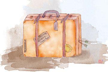 Una maleta, un viaje, una ilusión.