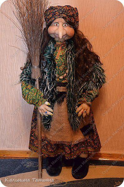Куклы Шитьё Самая Добродушная Баба Яга   Мех Мешковина Ткань фото 1