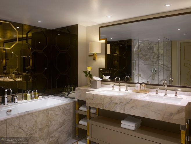 Website With Photo Gallery Cool cut out mirror wrap around wall lights HBA Protfolio InterContinental London Park Lane