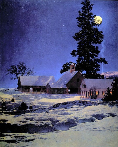 "Maxfield Parrish ""Moonlight Night"""