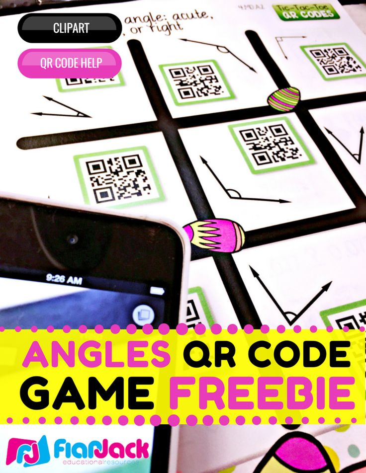 Identifying Angles QR Code Math Game FREEBIE! #ClassroomFreebies