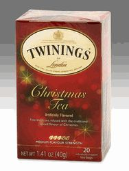 Twinings Christmas Tea - 20 Teabags~ Perfect over the Holidays, but I've added a couple to Summer Iced Tea also