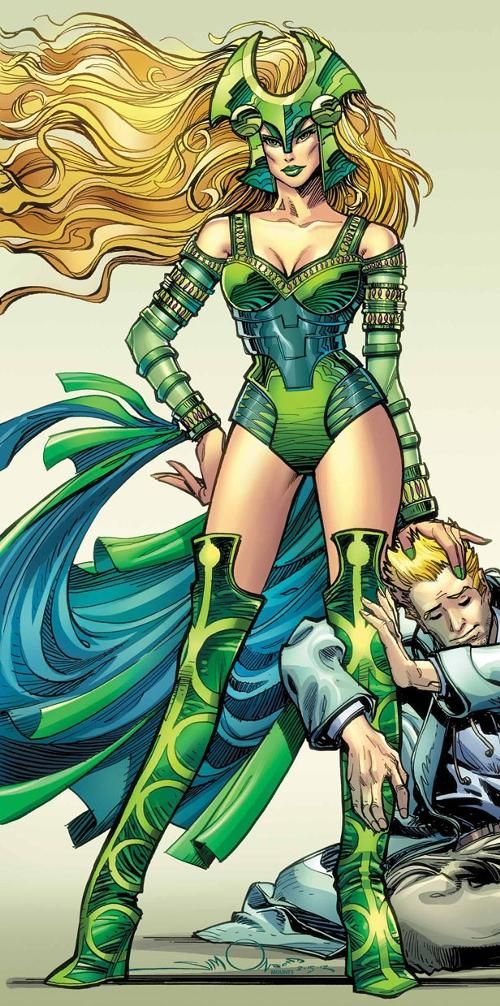 Amora was born somewhere in Asgard, her parentage unknown. While still in adolescence, she ran away to the land of the Norns and apprenticed herself to Karnilla, one of the most powerful sorceresses in all the Asgardian dimension. There she studied all the basic arts of Asgardian magic until Karnilla expelled her for being too undisciplined. She picked up further mystical skills from seducing other Asgardian magi and wizards. Centuries ago, Amora enlisted Brunnhilda, leader of Odin's...