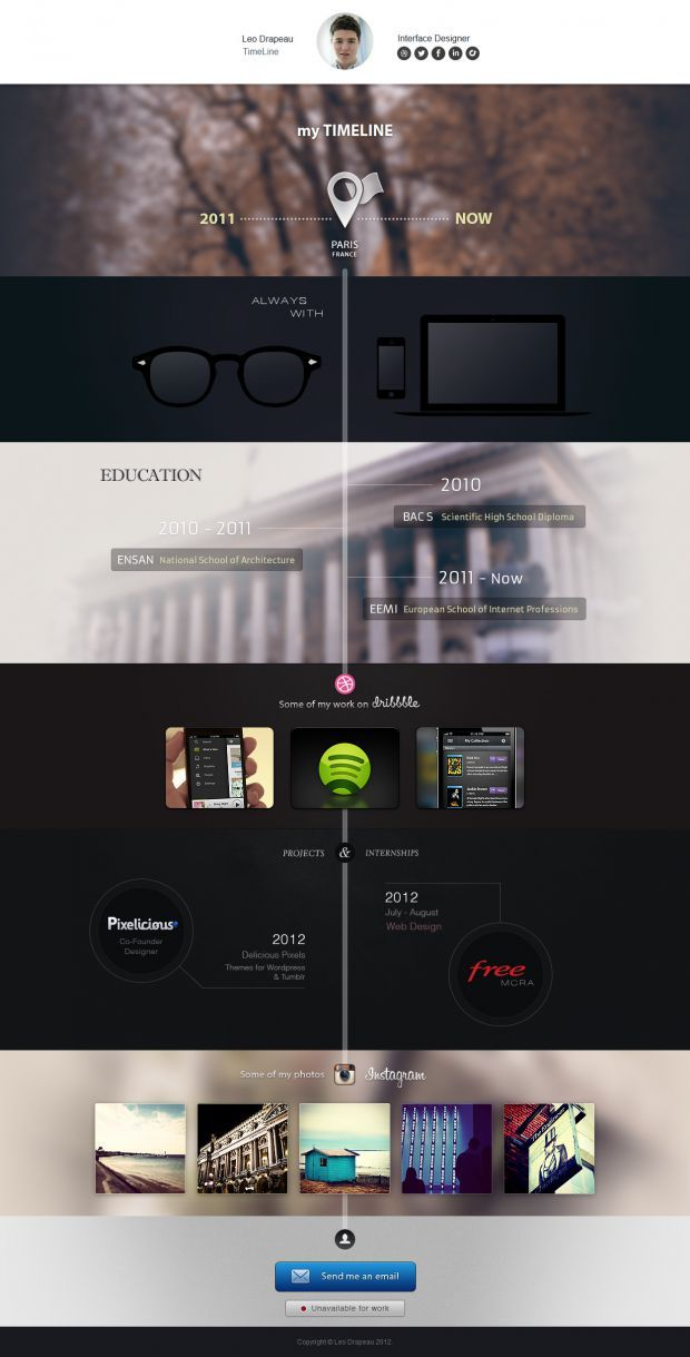 Leo Drapeau - Interface Designer - Best website, web design inspiration showcase