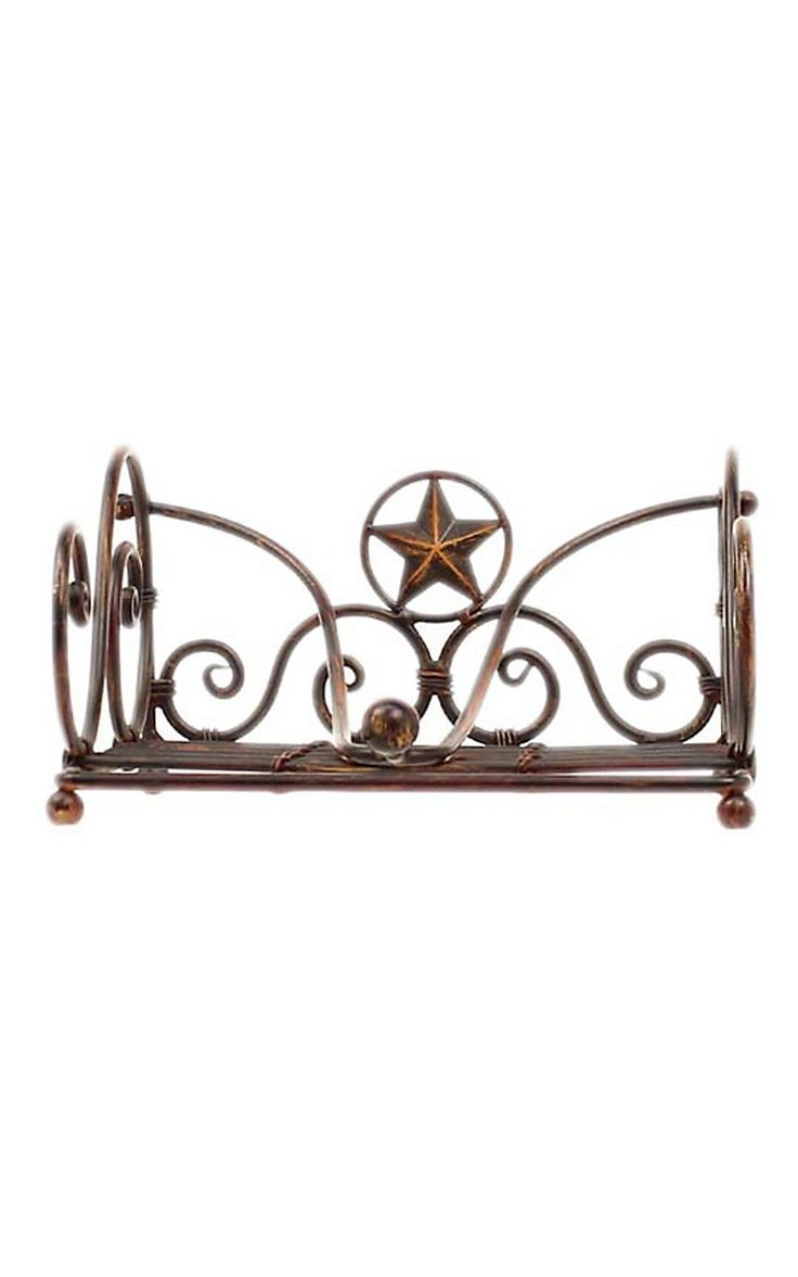 M F Western Products Star And Barbwire Metal Napkin Holder Kitchen Decorhome