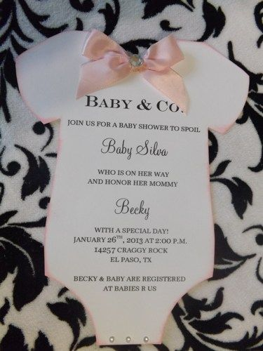 Baby Shower Tiffany and Co. Onesie Invitation Boy or Girl Announcment