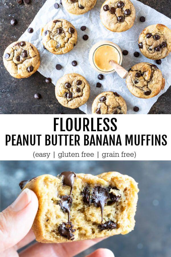 Flourless Peanut Butter Banana Muffins Gluten Free Recipe