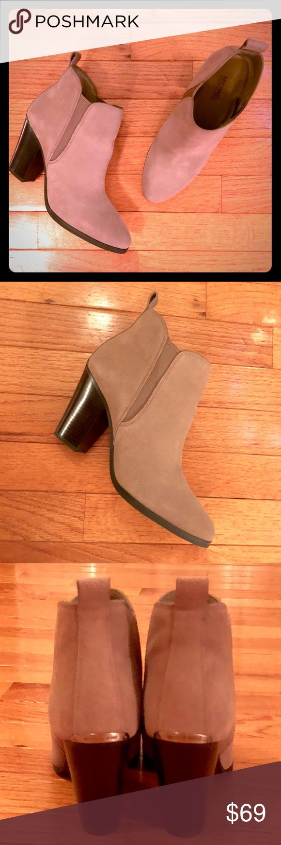 """Michael Kors """"Brandy"""" Booties - Size 7.5 - New! Brand new - with box - Michael Kors """"Brandy"""" Booties. Color is 'Dune' - Size 7.5 - Medium width.  Never worn!  Perfect for fall! Very versatile - wear with skinny jeans, leggings, or skirt and tights. Perfect condition - never worn. Smoke-free home. MICHAEL Michael Kors Shoes Ankle Boots & Booties"""