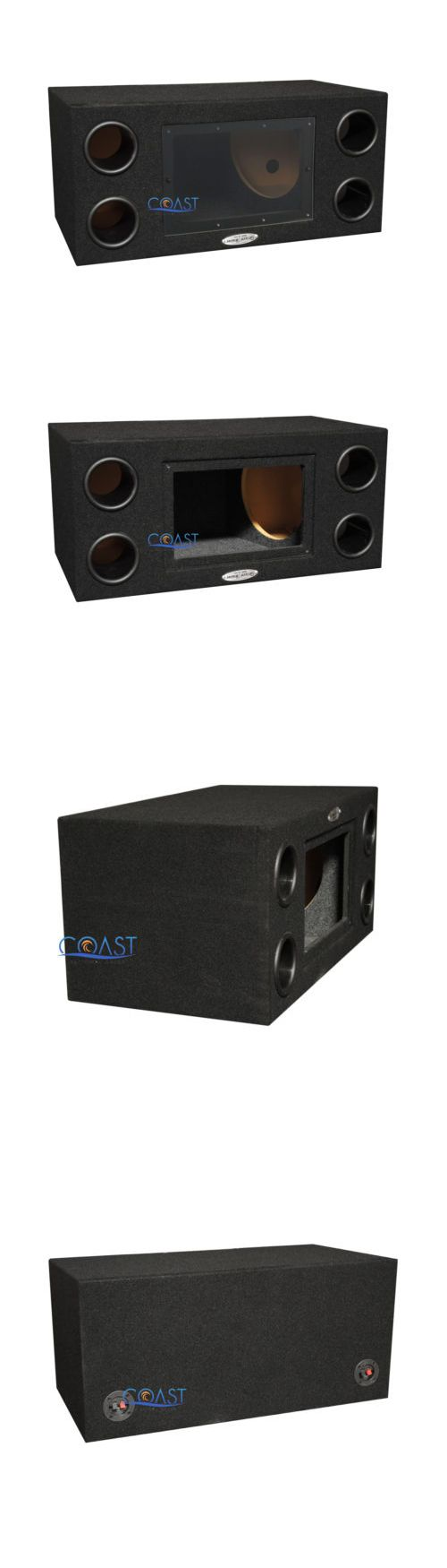 Skema box speaker woofer search results woodworking project ideas - Speaker Sub Enclosures Ground Shaker Car Audio 10 Dual Ports Bandpass Subwoofer Enclosure Box