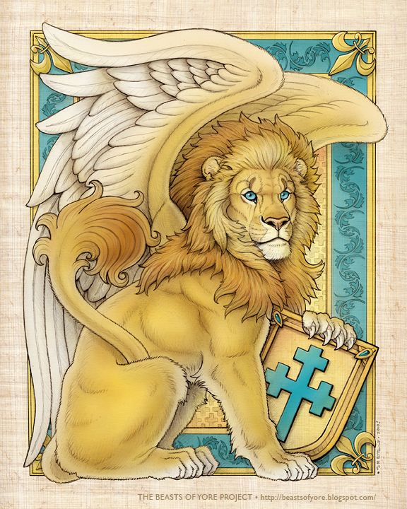 Winged lion by Synnabar