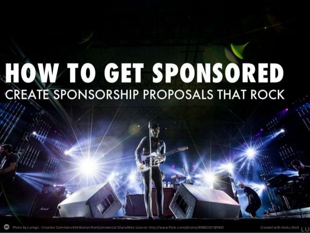 26 best Sponsorship packet images on Pinterest Nonprofit - proposal format for sponsorship of event