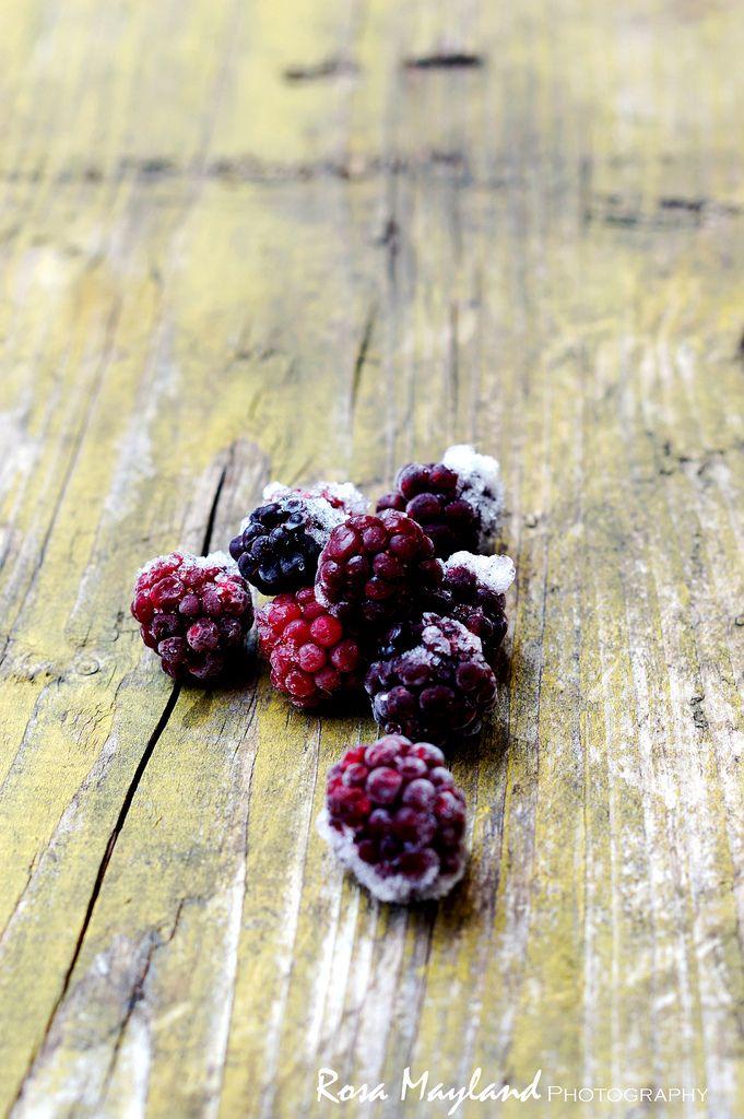 Frozen wild blackberries