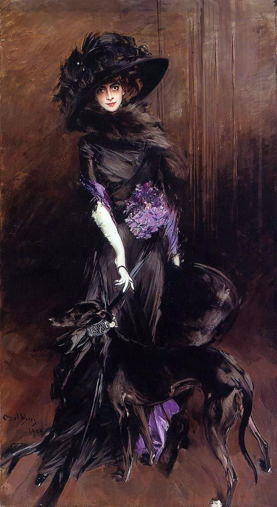 Marchesa Luisa Casati by  Giovanni Boldini,1908  http://my-ear-trumpet.tumblr.com/post/14947885777/masterpiecedaily-giovanni-boldini-marchesa