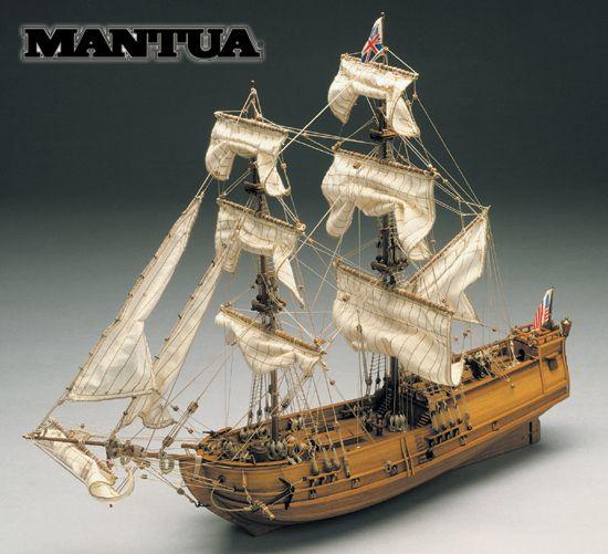 Model lodi Golden Star Mantua, stavebnice www.modely-lodi.cz