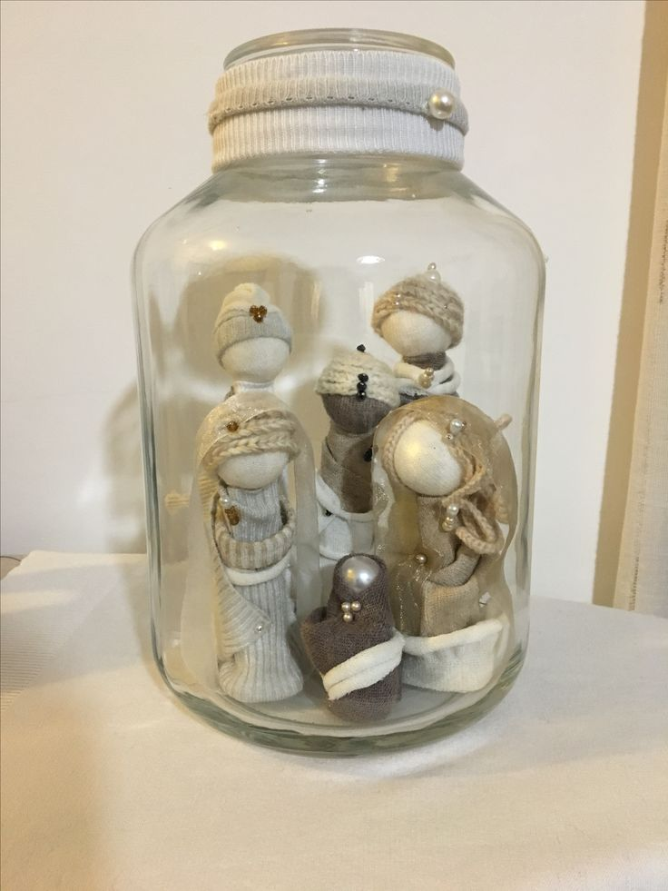 Nativity Jar lana e polistirolo