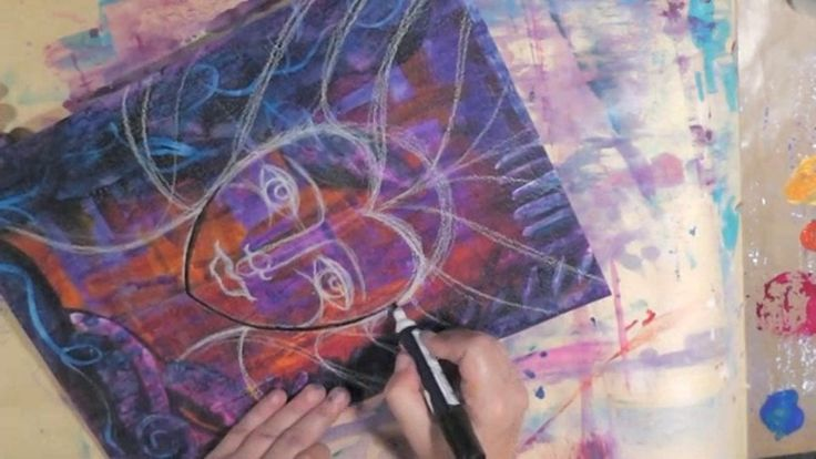July Intuitive Painting Part 2