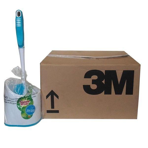Sikat Toilet Set (grosir) - Jual dg Harga Lebih Murah Sikat Pembersih Toilet Kamar Mandi Merk Scotch Brite Terbaik (ID-54)  Gagang nyaman dipegang, tahan lama, mampu menjangkau bagian toilet yang sulit terjangkau, bulu sikat yang kuat, dilengkapi dengan tutup agar lebih higienis.  (MODEL # ID-54)     - Harga per Carton (12 Each)  http://tigaem.com/scotch-brite-grosir/1401-sikat-toilet-set-grosir.html  #scotchbrite #sikat #3M