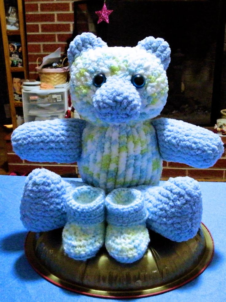 The Loom Muse Creations and Ideas: How to Loom Knit a Large Teddy Bear