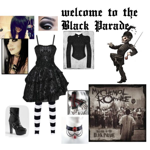 """""""Welcome to the Black Parade - My Chemical Romance"""" by gracetheleprechaun on Polyvore"""