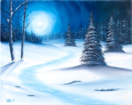 easy winter scenes to paint - Google Search