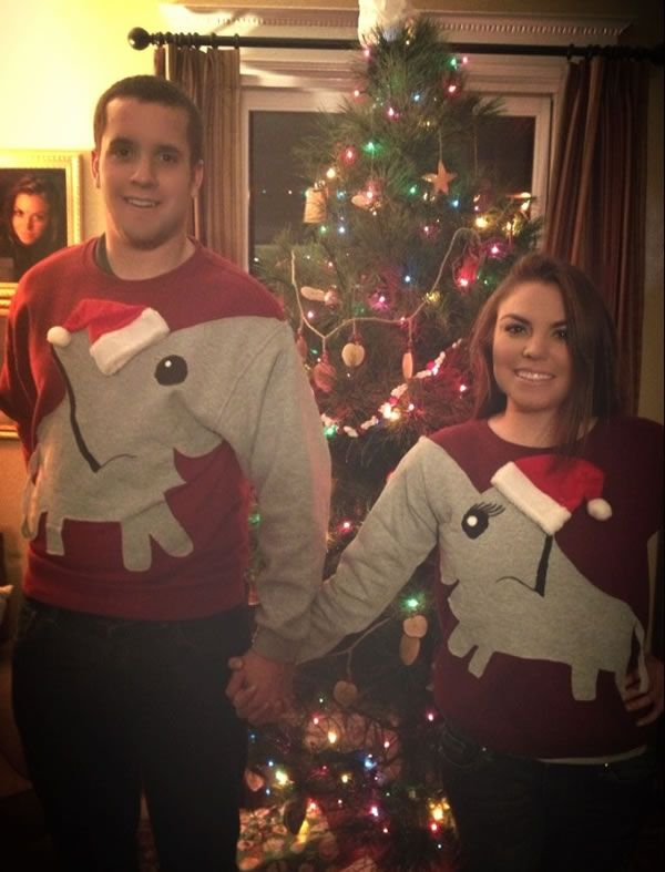 12 Hilarious Ugly Christmas Sweaters for Couples - ODDEE