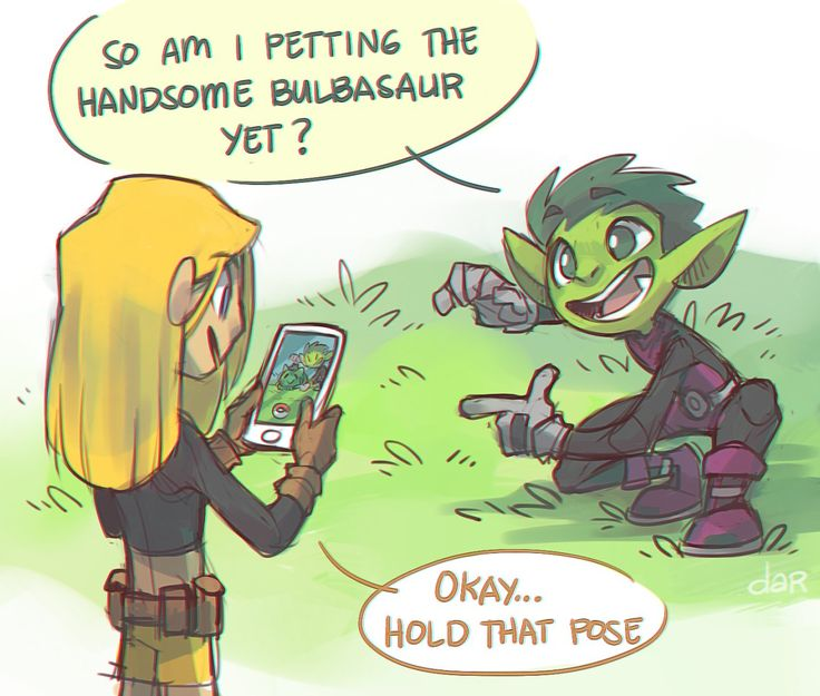 """dar-draws: """" BB and Terra are the kind of people that would play Pokemon Go together just to get cool shots. bunch of nerds """""""