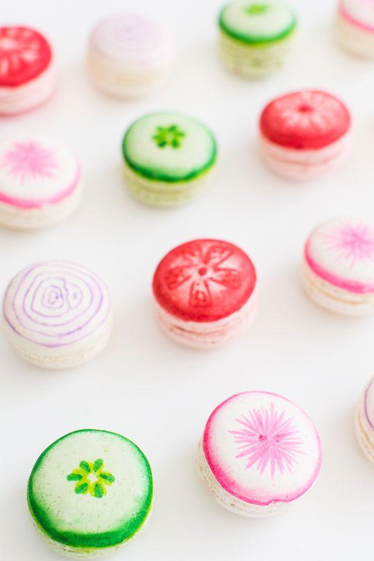 Macaron // Veggie kabob macarons | sugar & cloth