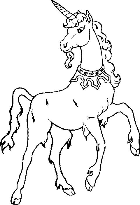 Unicorn Using Necklace Coloring Pages