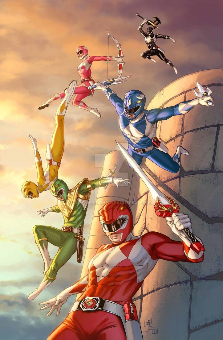 Mighty Morphin Power Rangers by Mike Krome