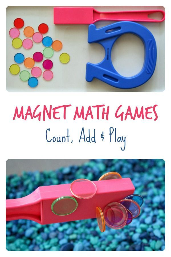 Magnet Math Games ~ Count Add and Play