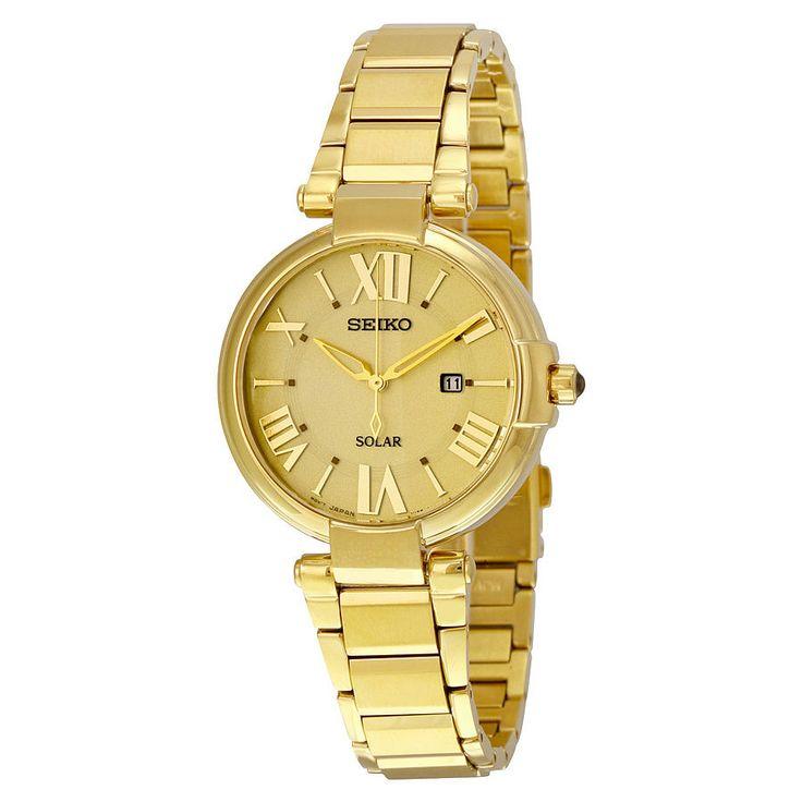 Seiko Women's SUT176 Analog Display Japanese Quartz Gold Watch | eBay