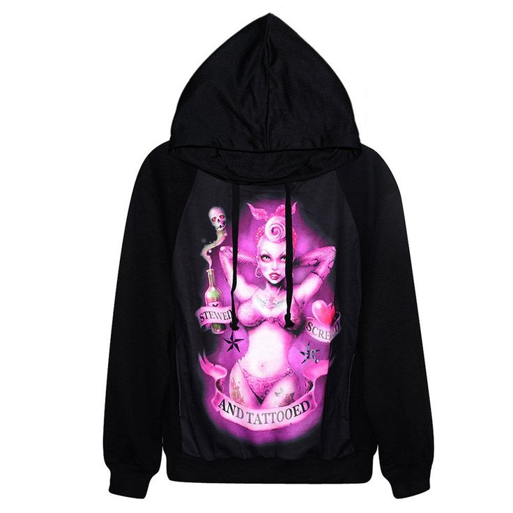 High Quality Hoodie With purple 3D Print