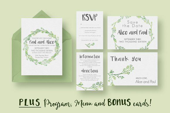 Hip Wedding Invitation Suite by Knotted Design on @creativemarket