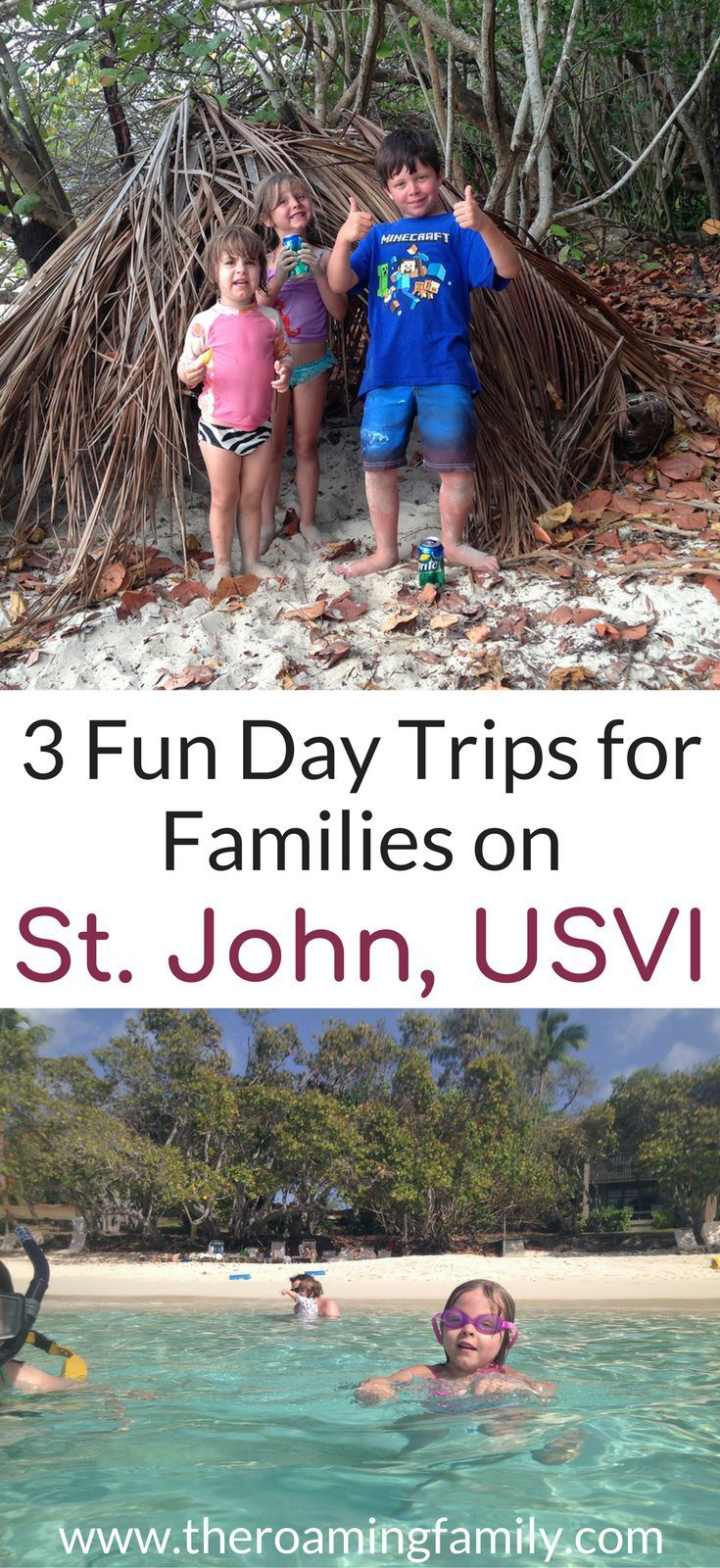 St. John in the US Virgin Islands is a beautiful family friendly island. Come see what our favorite day trips on St. John are including renting a boat in St. John and an underwater trail you can follow! Don't forget to save these fun family friendly activities on St. John to your travel board. #daytrip #stjohn #usvirginislands #familyvacation #familytrips #familytripplanners #kidfriendly
