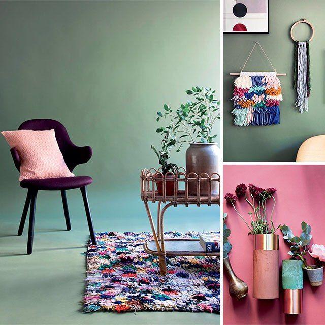 Støvede grønne og rosa toner præger indretningen og alle de bløde accessories, som du kan hygge med indenfor her i efteråret. Se mere på www.boligliv.dk  Af: @nadjawehlitz Foto: @pernilleenoch #boligliv #shopping