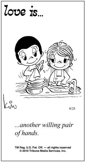 Helpen met de afwas of nog beter... de afwas helemaal alleen doen terwijl ik ga shoppen! heel hard bedankt lieveke! lu x
