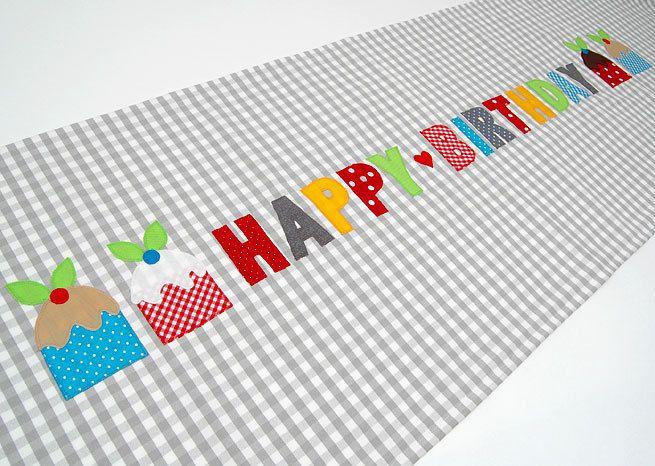 Tischläufer - Tischläufer Geburtstag - ein Designerstück von josefines-kinder bei DaWanda
