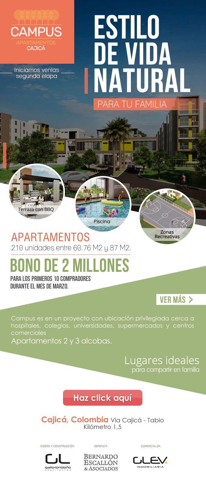 #NOVOCLICK esta con #CampusCajicá #Apartamentos