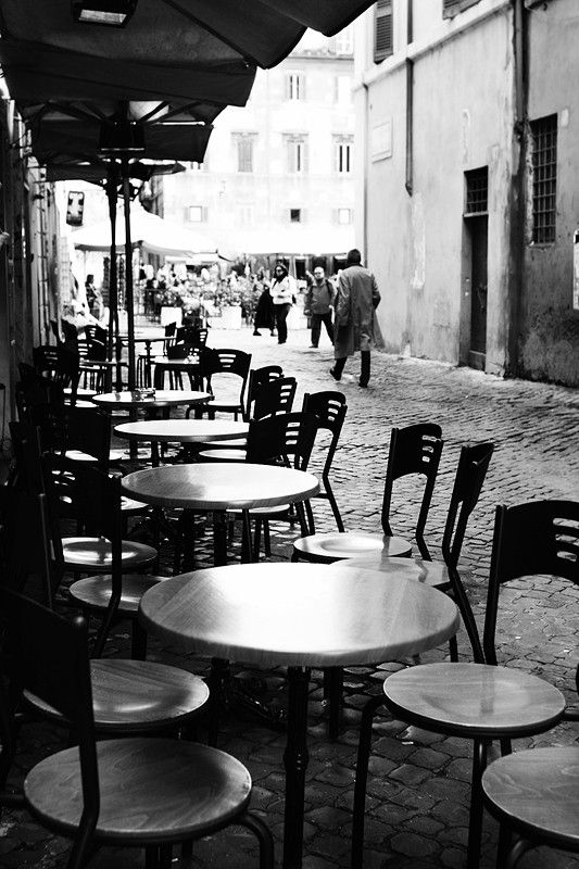 Cafe in Trastevere, Rome.
