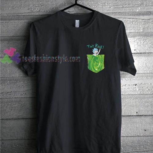 Tiny Rick Portal Pocket  Rick & Morty Comedy T Shirt gift tees cool tee shirts //Price: $11.99  //