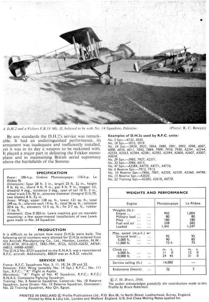 De Havilland DH2 (91) Page 12-960