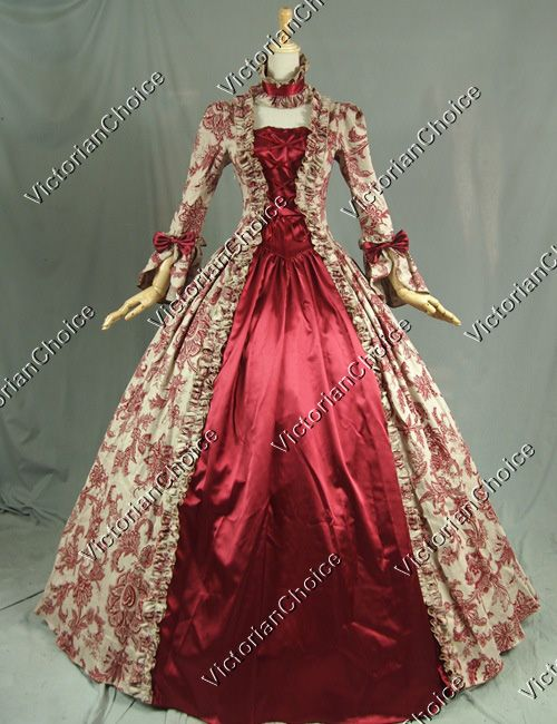 Georgian Victorian Gothic Dress Ball Gown Wedding Reenactment Cosplay