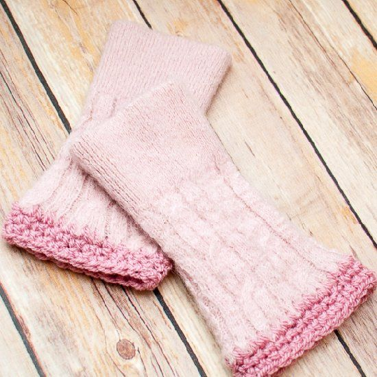 Upcycle and old sweater into pretty wrist warmers ... it is so fun and easy!