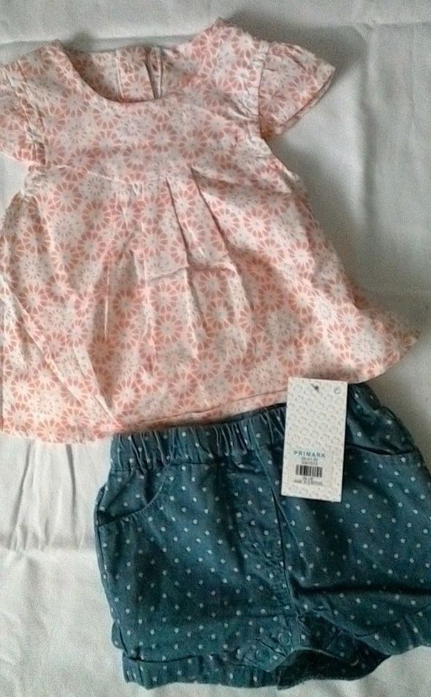 BNWT Next Baby Girls Sleepsuits Floral Two Pack Newborn 0-3 12-18 Months