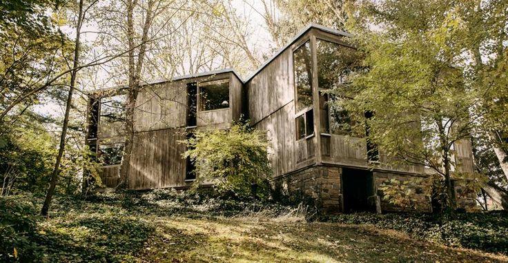 Norman Fisher House Louis Kahn living, trouvévia